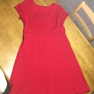 Talbots Red Empire Waist Dress